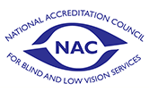 National Accreditation Council for Blind and Low Vision Services (NAC) logo (This is now being managed by AER)